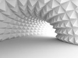 Abstrakcjonistyczny architektura tunel Z Lekkim tłem
