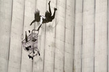 Banksy spadające graffiti shopper, Londyn