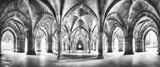 Klasztor czarno-białej panoramy