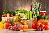 Kompozycja z różnorodnej żywności ekologicznej
