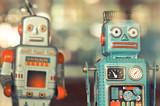 stare klasyczne zabawki robota z cyny
