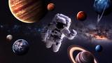 Astronauta w kosmosie. Elementy tego obrazu dostarczone przez NASA