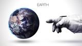 Ziemia - wysokiej rozdzielczości planeta układu słonecznego o najwyższej jakości. Wszystkie dostępne planety. Ten obraz elementy dostarczone przez NASA