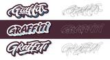 Warianty wektorowe literowania graffiti