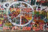 Colourfull pokoju graffiti na ścianie
