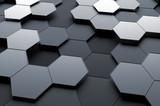 Streszczenie renderowania 3D powierzchni z sześciokątów.