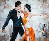 tancerze tanga, malarstwo cyfrowe, tancerze tanga