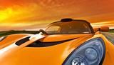 pomarańczowy samochód wyścigowy