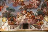 Sztuka malowania sufitu w centralnej sali Villa Borghese, Rzym