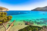 Idylliczny widok na morze na Majorce Bay of Camp de Mar