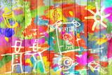 Kolor Graffiti Tle ściany