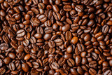 palone ziarna kawy w tle