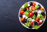 Fotografia świeża grecka sałatka