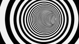 Czarno-biały okrąg paski streszczenie tunelu