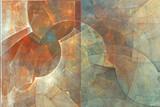 Fraktal streszczenie tło. Malarstwo abstrakcyjne w pastelowych kolorach oglądanych jak obrazy jaskini. Teksturowany obraz w kolorach różowym, niebieskim, błękitnym, czerwonym. Dla Twojego kreatywnego projektu.