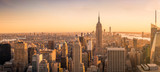 Panoramę Nowego Jorku panoramę o zachodzie słońca