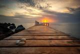 Denny wschód słońca przy Czarnym Dennym wybrzeżem blisko Varna, Bułgaria
