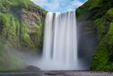 Wodospad Skogafoss długi czas ekspozycji