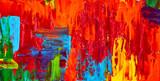 Abstrakcyjny obraz olejny. Art brushstrokes akwarela. Nowoczesne i współczesne dzieła sztuki. Kolorowe tło