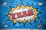 Tak, komiczne graffiti z cegieł