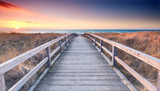 Przejście na plażę do Morza Bałtyckiego - wiosna
