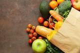 Torba na zakupy spożywcze spożywcze - warzywa, owoce, chleb i makaron