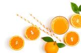 Świeżo wyciśnięty sok pomarańczowy.