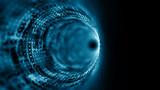 Czas tunel, komputer wytwarzał abstrakcjonistycznego fractal tło