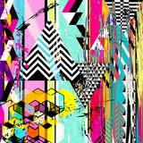 abstrakcyjne tło, z trójkątów, paski, obrysy i plamy