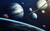 Planety Układu Słonecznego. Elementy tego obrazu dostarczone przez NASA