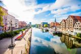 Stare Miasto i spichlerze nad rzeką Brdą. Bydgoszcz, Polska.