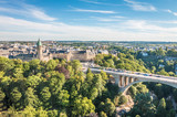 Ładny widok na miasto Luksemburg