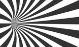 Ilustracja wektor spirali tunelowy złudzenie. Vortex Motion Striped Tunnel Background