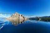 Most na wyspę KRK. KRK to chorwacka wyspa na północnym Adriatyku.