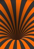 Ilustracja wektora tunelu szablonu. Spiralny Złudzenie Skręcony Vortex Kształt