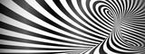 Czarny i biały przekręcający linii horyzontalny tło