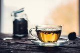 Szklana filiżanka herbaty