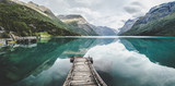 Lovatnet jezioro blisko Geiranger Fjord w Norwegia
