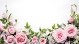 Kwiat róży z liści ramki