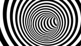 Czarno-biała spirala hipnotyczna. 3d rendering