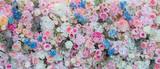 kwiat tło. dekoracja ślubna na tle. Różany wzór. Kwiat ścienny