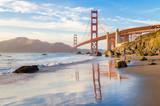 Golden Gate Bridge przy zmierzchem, San Fransisco, Kalifornia, usa