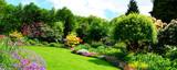 piękna panorama ogrodu