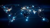 Globalny biznesowy pojęcie związki i ewidencyjny przeniesienie w światowej 3d ilustraci