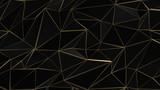 Czarny i złoty streszczenie low poly trójkąt tło