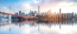 Panoramę nowoczesnej metropolii, Chongqing, Chiny,