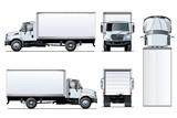 Wektor ciężarówka szablon na białym tle