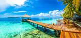 Malediwy beach resort panoramiczny krajobraz