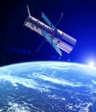 Teleskop kosmiczny Hubble'a na orbicie planety Ziemia. Układ Słoneczny. Niektóre elementy tego obrazu są dostarczane przez NASA