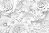 Biała Księga ściana kwiat, kwiatowy tło, karta ślubu, szablon karty z pozdrowieniami